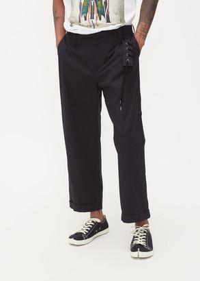 Craig Green Men's Laced Uniform Trouser Pants in Black Size Medium Cotton/Elastane