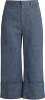Sea Linen-blend denim trousers
