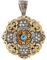 Konstantino Two-Tone Diamond & Topaz Pendant