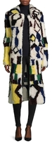 Jil Sander Leather Colorblocked Reversible Coat