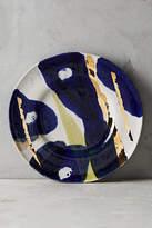 Anthropologie Gold Accent Dessert Plate
