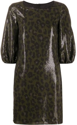 Boutique Moschino Sequin Leopard Print Dress