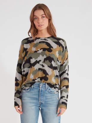 360 Cashmere 360cashmere Nanette Camo Cashmere Sweater
