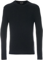 Tom Ford ribbed crew neck jumper