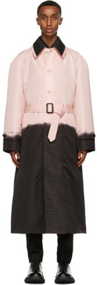 Alexander McQueen Pink and Black Layered Trench Coat