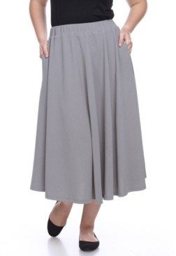 White Mark Plus Tasmin Flare Midi Skirts