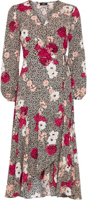 Wallis Stone Mix Floral Print Wrap Dress