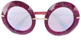 Dolce & Gabbana oversized glitter embellished sunglasses