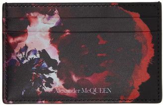 Alexander McQueen Black and Red Graphic Card Holder