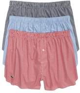 Lacoste 3-Pack Cotton Boxers