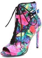 Brian Atwood Linford Floral Booties