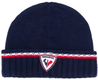 Rossignol Logo Patch Knitted Beanie Hat