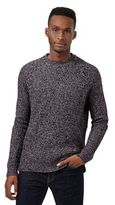 Red Herring Dark Purple Ribbed Jumper