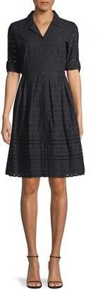 Donna Karan Eyelet Cotton Dress Shirt