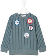 Stella McCartney patched pinstriped sweatshirt