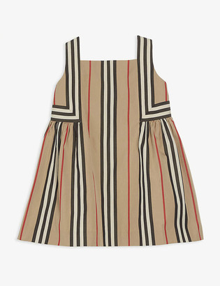 Burberry Astrid Icon stripe-print cotton dress 6-24 months