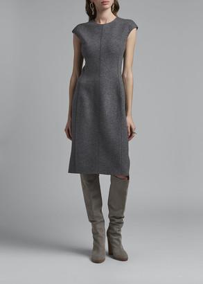 Agnona Cashmere Seamed Sheath Dress