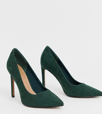 Asos Design DESIGN Porto pointed high heeled court shoes in forest green
