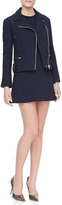 Victoria Beckham Denim Fit-and-Flare Tunic Dress