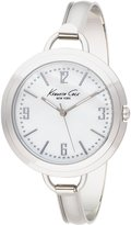 Kenneth Cole New York Kenneth Cole 3-Hand Silver-tone Bangle Mother-of-Pearl Dial Women's Watch #KC4682