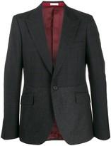 Alexander McQueen Hybrid check tweed blazer