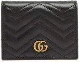 Gucci GG Marmont Quilted-leather Wallet - Womens - Black