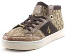 Baby Phat Aria Mid Jaquard Women Round Toe Canvas Sneakers.