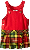 Junior Gaultier Overall Dress with Plaid Skirt Girl's Dress