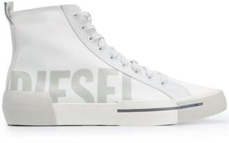 Diesel Logo Hi-Top Sneakers