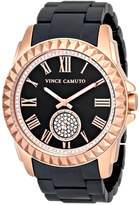 Vince Camuto Women's Swarovski Crystal Accented Rose Gold-Tone and Matte Black Ceramic Bracelet Watch