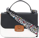 Love Moschino colour block large tote bag