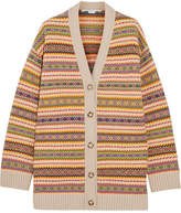 Stella McCartney Fair Isle Wool Cardigan - Orange