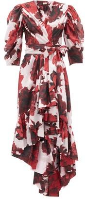 Alexandre Vauthier Floral-print Cotton-voile Wrap Dress - Red White
