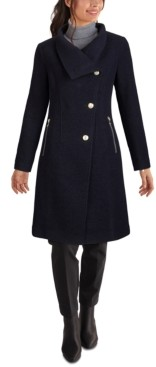 GUESS Asymmetrical Stand-Collar Coat, Created for Macy's