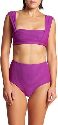 LeSwim Artemis Textured Bikini Swim Top