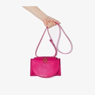 Yuzefi Fuchsia Edith Leather Shoulder Bag