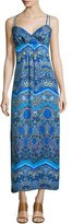 Laundry by Shelli Segal Sleeveless Printed Maxi Dress, Blue Beret/Multi