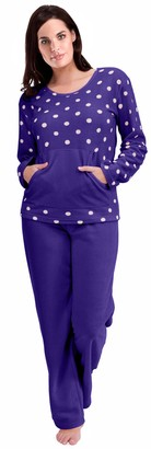 Cookies And Cream Womens Warm Fleece Winter PJ Pyjama Set Night Wear PJ's Pyjamas Sets Ladies