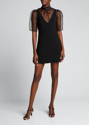 Cinq à Sept Frances Sheer Overlay Mini Dress