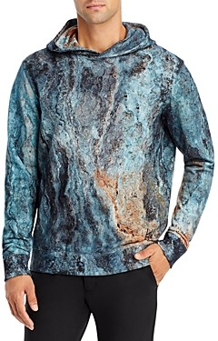 HUGO BOSS Dodran Cotton Abstract Print Hoodie