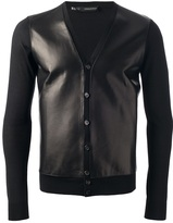 DSquared Dsquared2 leather panel cardigan