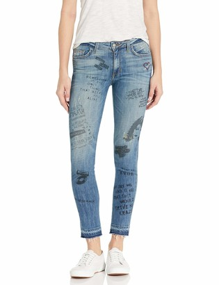 Siwy Women's Lauren Mid Rise Skinny in Writing On The Wall 25