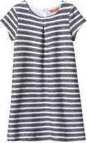 Joe Fresh Kid Girls' Print Pleated Dress, JF Midnight Blue (Size S)