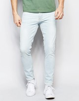 Nudie Jeans Pipe Led Super Skinny Fit Pillar White Bleach Wash