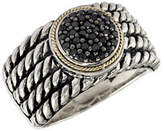 Black Diamond Effy 18K Yellow and Sterling Silver 0.20ct Ring