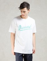 Diamond Supply Co. White Jagged Script T-shirt