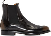 Officine Creative Black Leather Chelsea Boots
