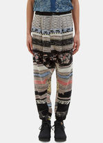 Men's Oversized Patterned Dropped Crotch Pants In Multicolour €555