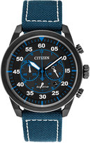 Citizen Men's Chronograph Avion Blue Nylon Strap Watch 45mm CA4215-39E, A Macy's Exclusive