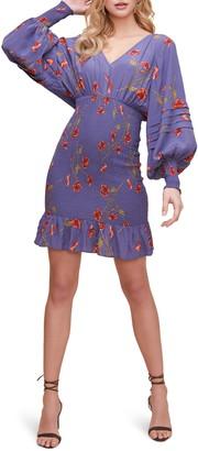 ASTR the Label Dolman Smocked Long Sleeve Minidress